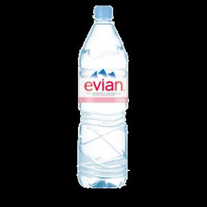 Bouteille d'eau minérale Evian 1,5l