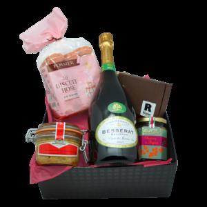 Luxueuse box à offrir avec bouteille de champagne de la Maison Reignier