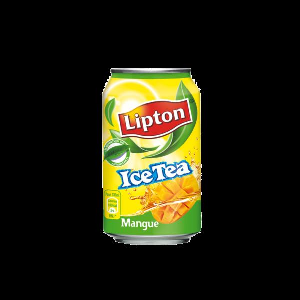 Canette de Lipton Ice Tea goût mangue - soda 33cl