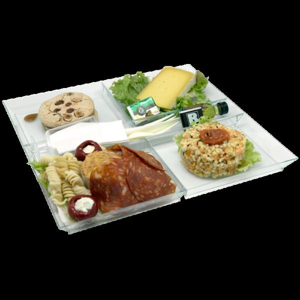 Plateau repas complet Le Mans - Entrée, plat, fromage, dessert