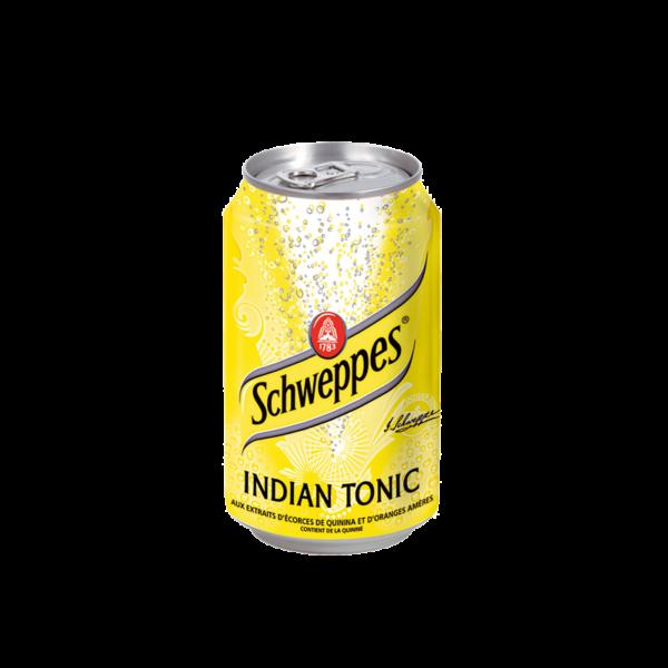 Schweppes tonic en canette de soda 33cl