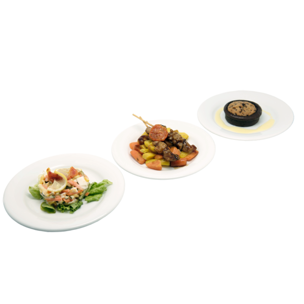 Plateau repas Le Mans - salade, brochette, brookie