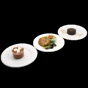 Plateau repas végétarien Le Mans - Salade méditerranéenne, Tarte tatin aux légumes poêlés, Mi-cuit praliné sans gluten
