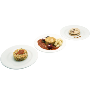 Plateau repas Le Mans - Salade de blé,Mini canelé piment d'espelette, tranches de chorizo,Succès praliné